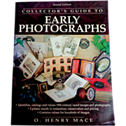 Collector's Guide to Early Photographs.  Reference.  Values.  Identifications.  As New Condition.