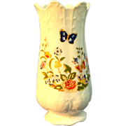 Aynsley English Bone China Vase.  Cottage Garden Pattern.  Exquisite.  Perfect Condition.