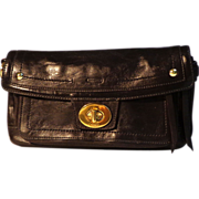 Coach Purse / Clutch / Wristlet.  Genuine Leather Chocolate Brown.  As New Condition.