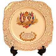 1939 Royal Commemorative Plate.  H & K Tunstall.  Visit to US and Canada.  Perfect Condition.