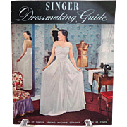 Singer Dressmaking Guide.  1948.  Superb Teaching Reference.  Techniques.  Near Fine Condition.