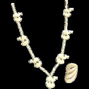 Bone Camel Necklace and  Striking Modernist Ring.