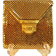 Gold Mesh Wallet / Clutch.  Quality.  Made in W. Germany.  Mint Condition.