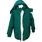 Vintage Eddie Bauer Women's Goose Down Filled Parka. Large. Green. Quality +++.  As New Condition.