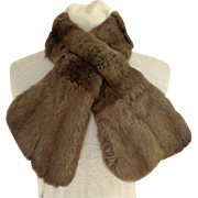 Made in Scotland. Genuine Fur Cross-over Collar. Russian Squirrel.  Exquisite Lining.  Near Fine Condition. - Red Tag Sale Item