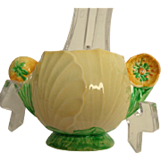 Carlton Ware Buttercup Australian Design Pattern Handled Condiment Pot / Sugar Bowl.  Gorgeous. Perfect Condition.