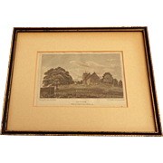 1806 Hand Colored Stipple Engraving SUTTON for Dr. Hughson's Description of London.  Framed.