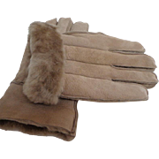 Men's Genuine Sheepskin Gloves.  Size L. Made in England.  Luxurious Quality.  As New Condition.