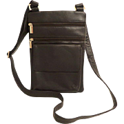 ROSSINI  Genuine Steerhide Leather Cross Body Purse.  Chocolate Brown.  Quality ++.  As New Condition.  Unused.