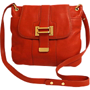 Genuine Leather LIZ CLAIBORNE Cross Body Purse.  Terracotta.  Quality.  Mint Condition.