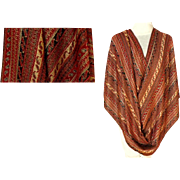 Gold Red and Rust Pashmina.  Pashmina and Silk.   Super Gorgeous.  As New Condition.