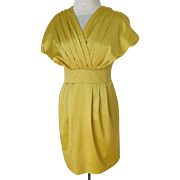PRADA Designer Dress.  Pale Gold.  Classic Elegance.  Size 6.  Mint Condition.