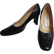ETIENNE AIGNER Black Leather Pumps.  Size 5 ½ M.  Near Mint Condition.