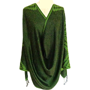 Shades of Hunter Green  Pashmina.  100%  Pashmina.   Super Gorgeous.  As New Condition.