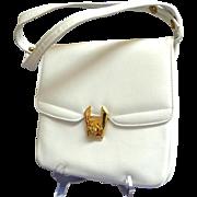 White Genuine Leather Purse. Top Quality. Made in Canada.  Pristine Condition.