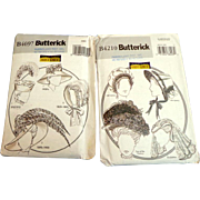 BUTTERICK B4210 and B4697. Patterns for period hats and bonnet.  Uncut.  Unused.  Mint Condition.
