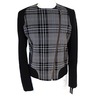 BIANCA NYGARD Jacket.  Black Plaid.  Quality ++.  As New with Tag.