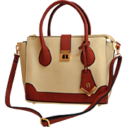 MWT.    Etienne Aigner Purse.  Convertible, Crossbody, Satchel.  Terracotta and Cream.    As New Condition.