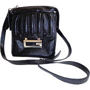 Black Crossbody Convertible GUESS Purse.  Near Fine Condition.