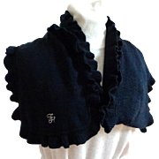 TOMMY HILFIGER Designer Scarf.  Signed. Navy Knit. Super Gorgeous.  As New Condition.