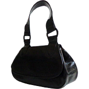 Genuine Leather.  Black Handbag.  Totally Elegant ++. Mint Condition.