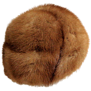 Canadian Honey Mink Swirl Hat.  Top Quality.  Unusual Turban Styling. As New Condition.