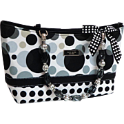 KATE SPADE Polka Dot Purse with Bow and Shoulder Strap.  Gorgeous.  As New Condition.