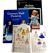 Doll Patterns. Heirloom Patterns Book. German Patterns Book. 2 Sewing Patterns.