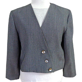 Custom Made Blazer / Jacket.  Triangle Front Detail.  Boxy Style. As New Condition.