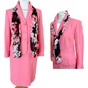 4 Piece, Rose Pink, Suit.  Gorgeous Elegant.  As New Condition.