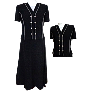 JULIAN TAYLOR Full Length, One Piece,  Evening / Hostess  Gown. Black. Classic Elegance.  Mint Condition.