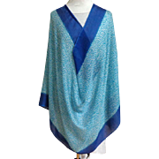 CALVIN KLEIN  Super Large Wrap / Shawl / Cover-up.  MWT. Blue & White. As New.