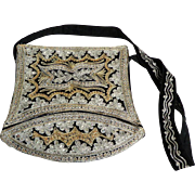 Indian Purse.  Silver & Gold Embroidered.  Cross body.  Gorgeous.  Mint Condition.