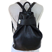 DANIER Genuine Leather Purse / Backpack.  Black. Top Quality.  As New Condition.