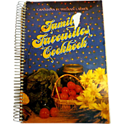 Canadian Lutheran Ladies FAMILY FAVOURITES COOKBOOK.  1984. Spiral Bound. Very Good Condition.
