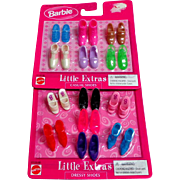 BARBIE Shoes.  13 Pairs. 2 Unopened Packages.  Casual & Dressy.  Mattel.