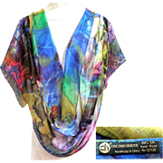 COCOON HOUSE 100% Silk Georgette Scarf.  Incredible.  Lovely.  As New Condition.