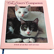Cat Lover's Companion.  Daily Diary for a Year.  Facts. Beautifully Illustrated.  Gorgeous.  As New Condition.