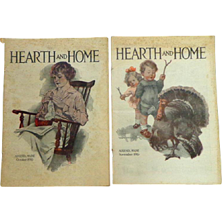 Hearth and Home. 2 Issues: Augusta Maine. October and November 1916.