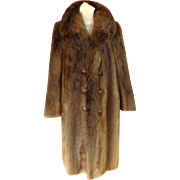 Men's Full Length Canadian Unsheared Beaver Fur Coat.  Top Quality.  Mint Condition.