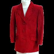 DANIER Genuine Suede Jacket.  Light Wine Color.  Princess Lines.  Superb Quality.  Mint Condition.