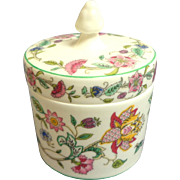 Minton. Haddon Hall Pattern Covered Jar.  Mint Condition.