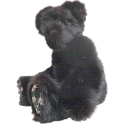 "16"" Genuine Mink Fur Teddy Bear.  Black.  Fully Jointed.  Adorable.  Perfect Condition."
