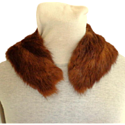 Golden Brown Mink Collar.  Smooth and Luxurious.