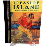 TREASURE ISLAND by Robert Louis Stevenson.  Illust. by Milo Winter.  Children's Classics, 1986 Edition.  Near Fine Condition.