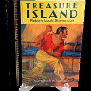 TREASURE ISLAND by Robert Louis Stevenson.  Illust. by Milo Winter.  Children's Classics, 1986 Edition.  Near Fine Condition.