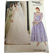 Vogue Bridal / Wedding Dress 1248 Pattern.  Uncut.  Size 12.