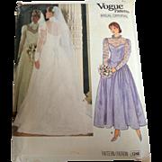 Vogue Bridal / Wedding Dress 1248 Pattern.  Uncut.  Size 12.