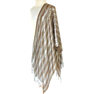 Silver Pashmina / Shawl / Scarf.  Super Gorgeous.  Large.  Perfect Condition.