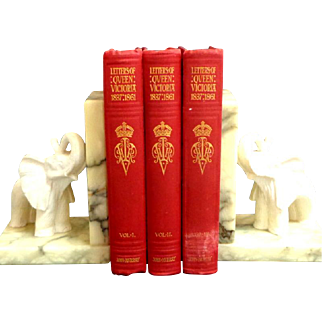3 Volume Ed. of LETTERS OF QUEEN VICTORIA. Ed by AC Benson & Viscount Esher.  Pub. John Murray, 1908.